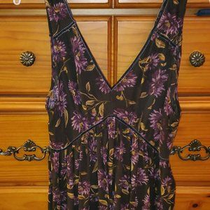 AE floral and velvet tank top